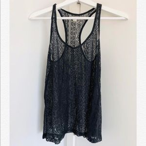 New American Eagle lace tank- black color-size S